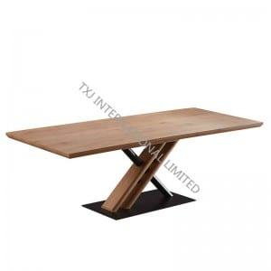 LOWA-DT MDF Extension Table, Oak paper veneer
