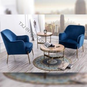 DELIA Velvet Fabric Relax Chair