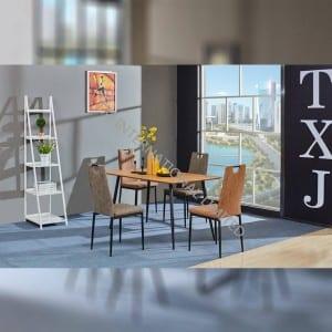 TD-1790 MDF Dining Table, Oak color veneer, promotional table