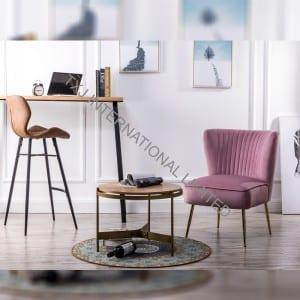 APRIL Velvet Fabric Relax Chair