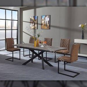 TD-1755 MDF Extension Table, metal frame, paper veneer top board