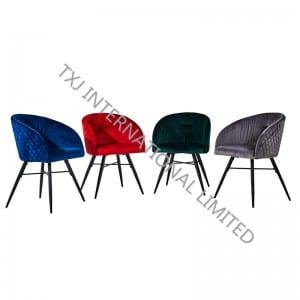 BC-1842B Velvet Dining Chair With Black Feet