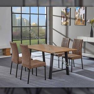 TD-1751 MDF Dining Table, Recangular shape oak color