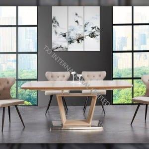 TD-1851 MDF Extension Table ,cappuccino matt color