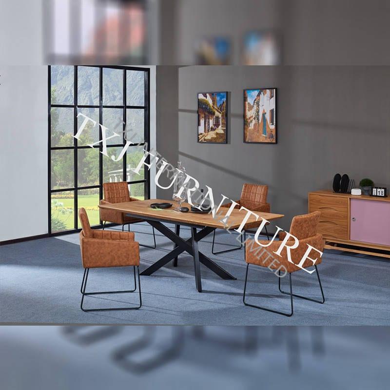 TD-1755 MDF Extension Table, metal frame, paper veneer top board Featured Image
