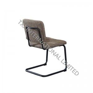 TC-1868 Miami PU Dining Chair With Black Powder Coating Legs