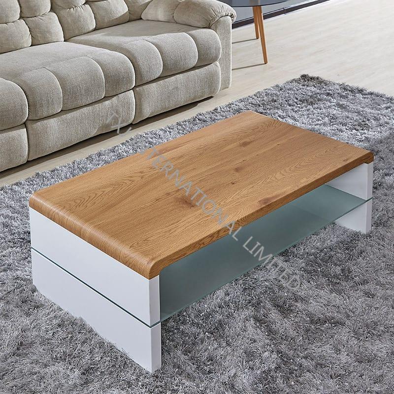 KONTEX MDF Coffee Table With Oak Paper Veneer Featured Image