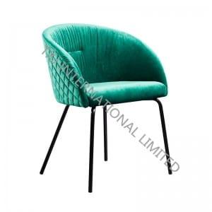 BC-1842 Velvet Dining Chair With Black Feet